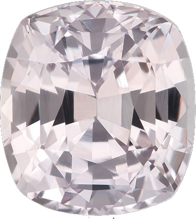 GIA Cert on Untreated Sapphire Colorless White with Pink Hue Gem in 8.9 x 8.1 mm, 3.69 carats