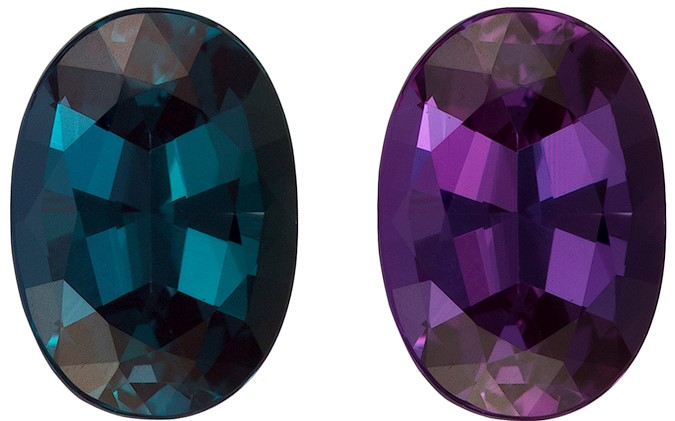 GIA Certified 0.84 carats Alexandrite Loose Gemstone in Oval Cut, Eggplant to Blue Green, 6.9 x 4.9 mm