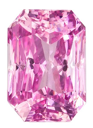 GIA Certified 1.62 carats Pink Sapphire Loose Gemstone in Radiant Cut, Vivid Pink, 7.3 x 5.1 mm