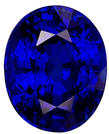 GIA Certified 10.12 carats Blue Sapphire Loose Gemstone in Oval Cut, Rich Blue, 13.7 x 11 mm