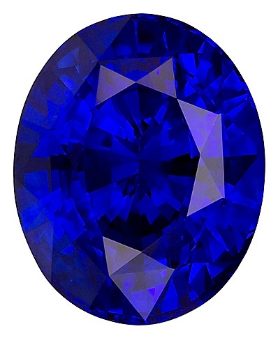 GIA Certified 10.8 x 8.7 mm Blue Sapphire Genuine Gemstone in Oval Cut, Intense Blue, 5.07 carats