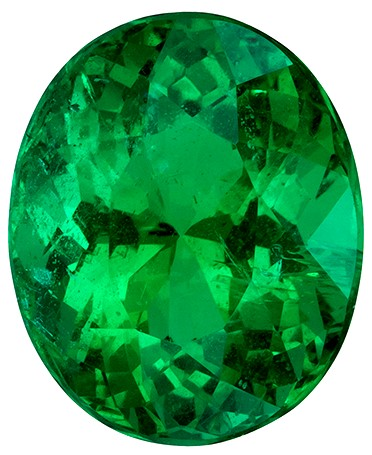 Faceted Vibrant Emerald Gemstone, Oval Cut, 2.6 carats, 9.45 x 7.73 x 6.32 mm , GIA Certified - A Deal