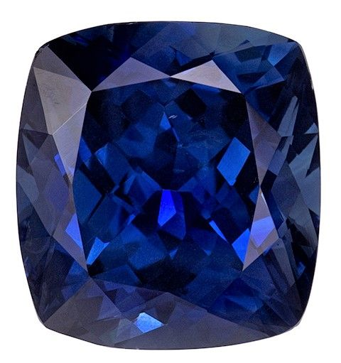 Real Blue Sapphire Gemstone, Cushion Cut, 11.84 carats, 13.55 x 12.57 x 8.23 mm , GIA Certified - A Hard to Find Gem