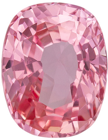 GIA Certified No Heat 0.86 carats Padparadscha Sapphire Loose Gemstone in Cushion Cut, Pink Orange Peach, 6.3 x 4.9 mm