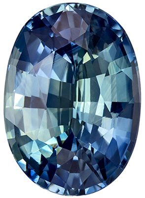 Impressive Gem in GIA Certified 4.52 carats Sapphire Loose Gemstone in Oval Cut, Teal Blue Green, 11.6 x 8.3 mm