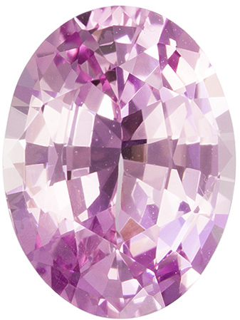 GIA Certified No Heat 8.8 x 6.5 mm Pink Sapphire Genuine Gemstone in Oval Cut, Vivid Baby Pink, 1.78 carats