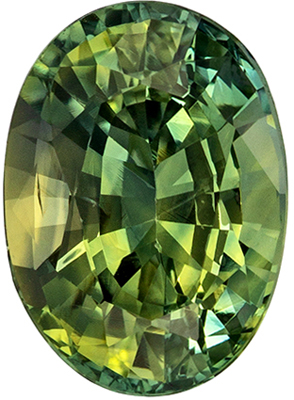 GIA Certified No Treatment 0.92 carats Green Sapphire Loose Gemstone in Round Cut, Medium Green, 6 x 5.9 mm