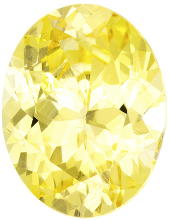GIA Certified No Treatment 1.07 carats Yellow Sapphire Loose Gemstone in Oval Cut, Intense Pure Yellow, 7.3 x 5.6 mm
