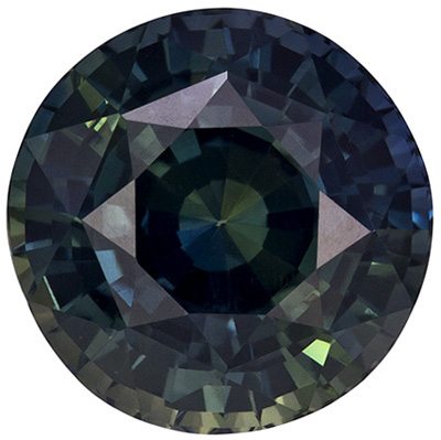 A Beautiful 5.59 carats Sapphire Loose Genuine Gemstone in Round Cut, Teal Blue, 10.0 x 9.9 mm