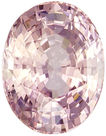 GIA Certified No Treatment 12.2 x 9.5 mm Padparadscha Sapphire Genuine Gemstone in Oval Cut, Soft Orange Pink, 6.53 carats
