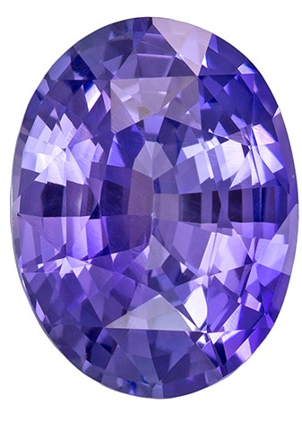Very Special Gem GIA Certified 8.9 x 6.7 mm Sapphire Genuine Gemstone in Oval Cut, Easter Purple, 2.02 carats