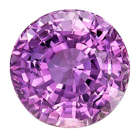 GIA Certified No Treatment 3.06 carats Purple Sapphire Loose Gemstone in Round Cut, Pink Lavender Purple, 8.1 x 8 mm