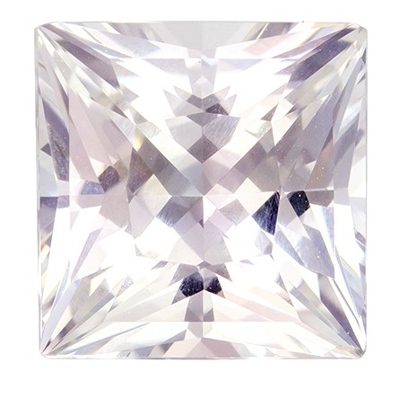 GIA Certified No Treatment 5.25 carats White Sapphire Loose Gemstone in Princess Cut, Very Colorless White, 9.5 x 9.4 mm