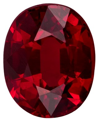 GIA Certified No Treatment 7 x 5.6 mm Ruby Genuine Gemstone in Oval Cut, Rich Red, 1.43 carats