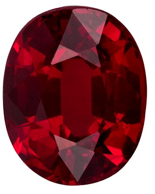 Real Fiery Ruby Gemstone, Oval Cut, 1.43 carats, 6.97 x 5.61 x 4.12 mm , GIA Certified - A Unique Beauty
