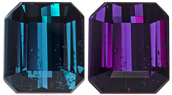 GIA Certified Rare Color Alexandrite Stone with Beautiful Color Change, 7.5 x 6.6 mm, 2.11 carats