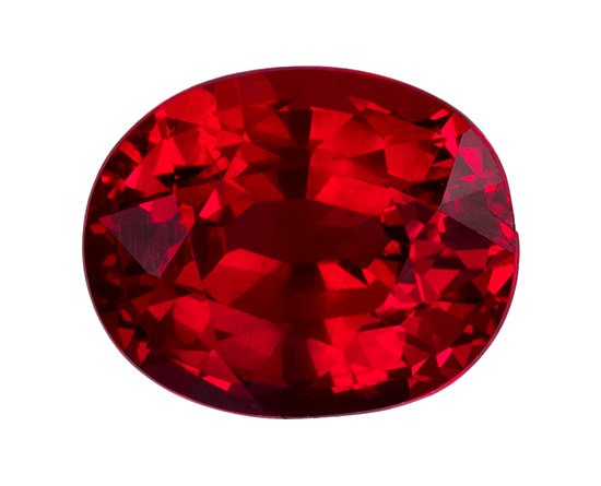 GIA Certified No Treatment 7 x 5.6 mm Ruby Genuine Gemstone Oval Cut, Rich Red, 1.43 carats