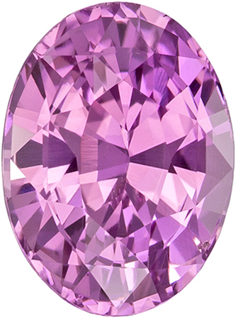 GIA Certified Unheated 1.7 carats Pink Sapphire Loose Gemstone in Oval Cut, Pure Pink, 8 x 5.9 mm