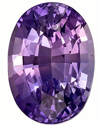 GIA Certified Unheated 2.56 carats Purple Sapphire Loose Gemstone in Oval Cut, Vivid Lavender, 9.3 x 6.7 mm