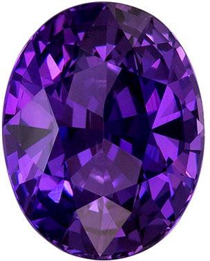 GIA Certified Unheated 2.64 carats Purple Sapphire Loose Gemstone in Oval Cut, Rich Purple, 8.8 x 6.9 mm