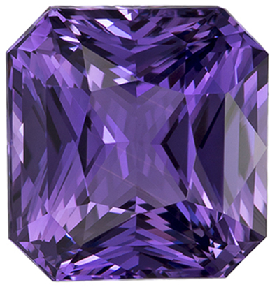 GIA Certified Unheated 3.13 carats Purple Sapphire Loose Gemstone in Radiant Cut, Rich Purple, 8.1 x 7.7 mm
