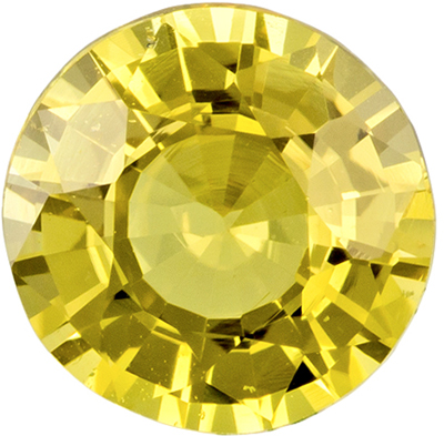 GIA Certified Unheated 7 x 7.2 mm Yellow Sapphire Genuine Gemstone in Round Cut, Pure Rich Yellow, 1.71 carats