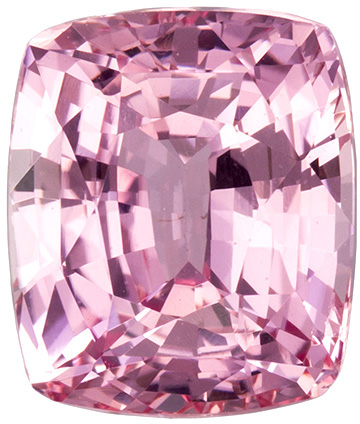 GIA Certified Unheated 8.3 x 7.1 mm Padparadscha Sapphire Genuine Gemstone in Cushion Cut, Orangish Pink, 3 carats