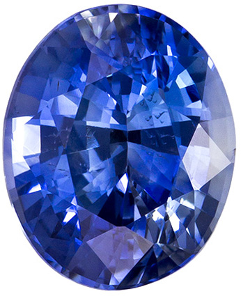 GIA Certified Unheated 8.5 x 7 mm Blue Sapphire Genuine Gemstone in Oval Cut, Rich Blue, 2.23 carats