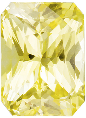 GIA Certified Untreated 3.53 carats Yellow Sapphire Loose Gemstone in Radiant Cut, Medium Yellow, 9.3 x 7.0 mm