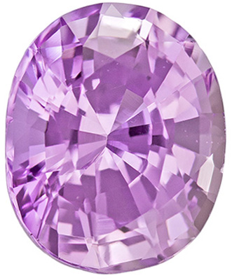 GIA Certified Untreated 7.1 x 5.8 mm Purple Sapphire Genuine Gemstone in Oval Cut, Pinkish Lavender, 1.39 carats