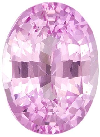GIC Soft Pink Untreated Sapphire Gem in Oval Cut, Pure Soft Pink Color in 7.3 x 5.3 mm, 1.15 carats - GIC Certified