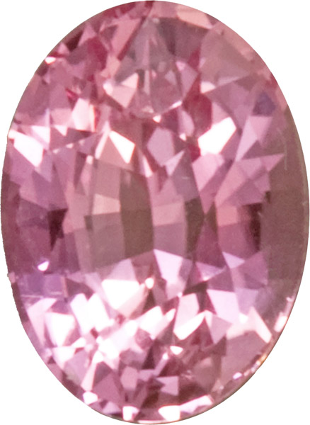 GIT Certified No Treatment Genuine Padparadscha Sapphire, Strong Orangey Pink Color, 6.9 x 7.2 mm, 1.20 carat