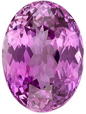 GIT Certified Soft Pink Sapphire Stone from Madagascar for SALE! Oval Cut, 10.3 x 7.6 mm, 3.55 carats
