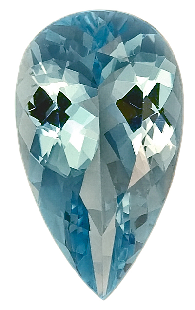Glamorous Natural Aquamarine Gemstone for SALE, Pear Shape, 3.81 carats,