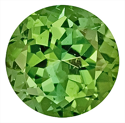 Gleaming Green Tourmaline Genuine Gemstone for SALE,  Round Cut, 8.3 x 8.2 mm, 2.28 carats