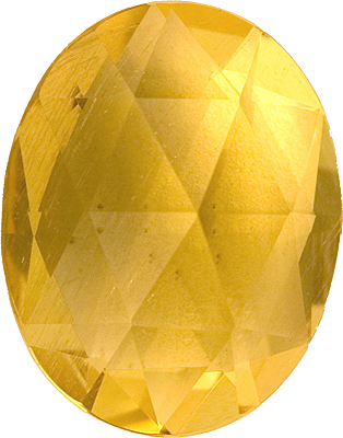 Gleaming Untreated Yellow Beryl Gemstone for SALE - Fine Color, Interesting Cut in Oval Cut, 6.79 carats