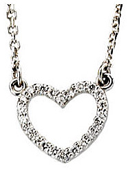 Glittering 14k White Gold .13ct Diamond Studded Necklace for SALE
