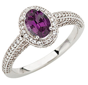 Glorious GEM Brazilian Oval Cut 0.85 Low Price on Gem Alexandrite set in a 1.50ct Pave Diamond White Gold Ring on SALE