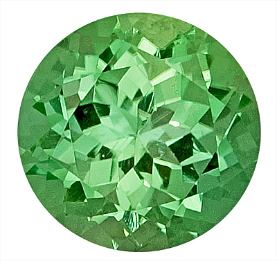 Glowing Green Tourmaline Natural Gemstone for SALE,  Round Cut, 8.9 x 8.8 mm, 3.21 carats