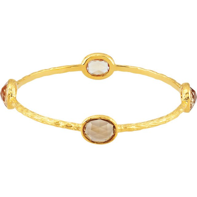 Gold Plated Sterling Silver Yellow Quartz 8