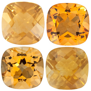 GOLDEN CITRINE  Antique Square Cut Gems - Calibrated