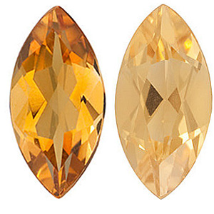 GOLDEN CITRINE  Marquise Cut Gems - Calibrated