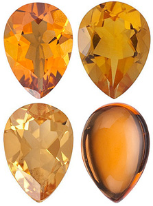 GOLDEN CITRINE  Pear Cut Gems - Calibrated