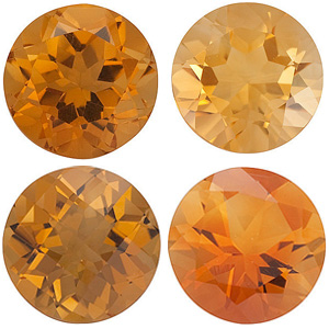 GOLDEN CITRINE  Round Cut - Calibrated