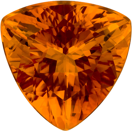 Golden Orange Citrine Genuine Gem in Trillion Cut, 7 mm, 0.98 Carats - SOLD
