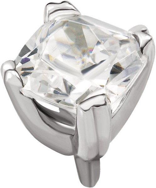 Good Looking 14kt Gold Twin 4-Prong Peg Setting for Antique Square Gemstone Sized 4.00 mm to 8.00 mm