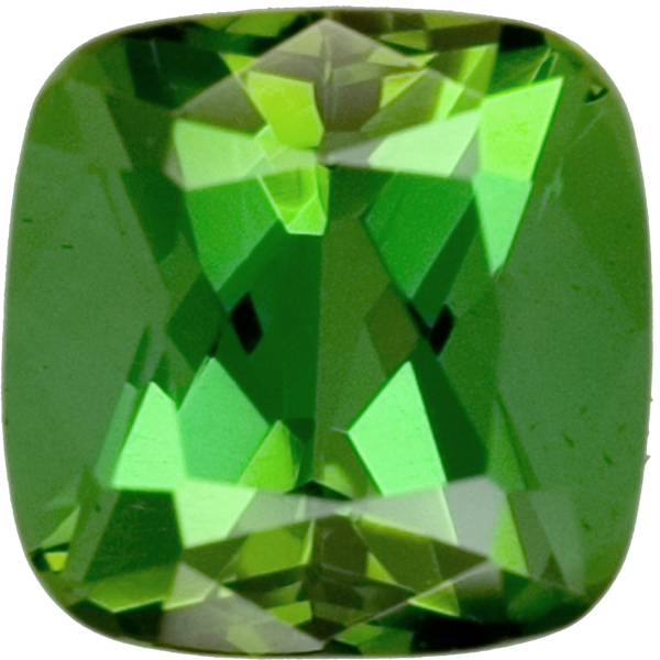 Good Looking Antique Cushion Grassy Green Tourmaline, 9.1mm, 4.26 carats