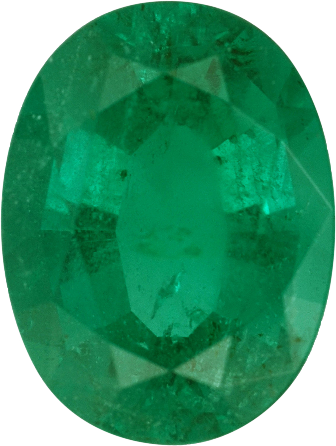 Good Looking Emerald Loose Gem in Oval Cut, Vibrant Blue Green, 8.03 x 6.07  mm, 1.25 Carats