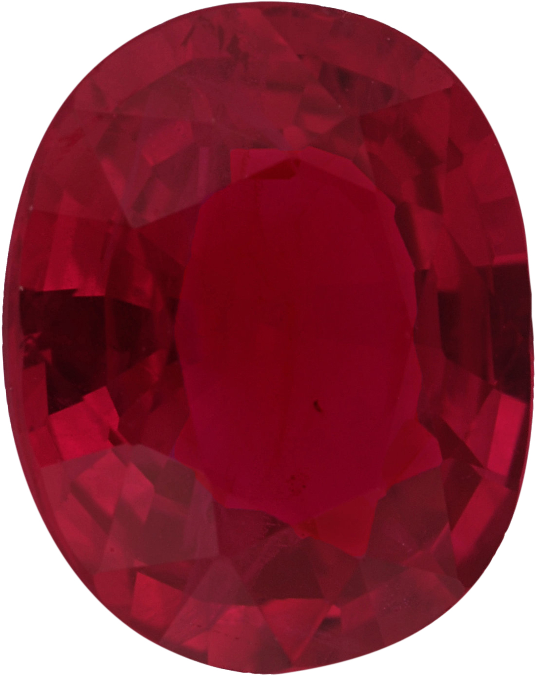 Good Looking Loose Ruby Gem in Oval Cut, Vivid  Red Color, 7.12 x 5.74 mm, 1.14 carats