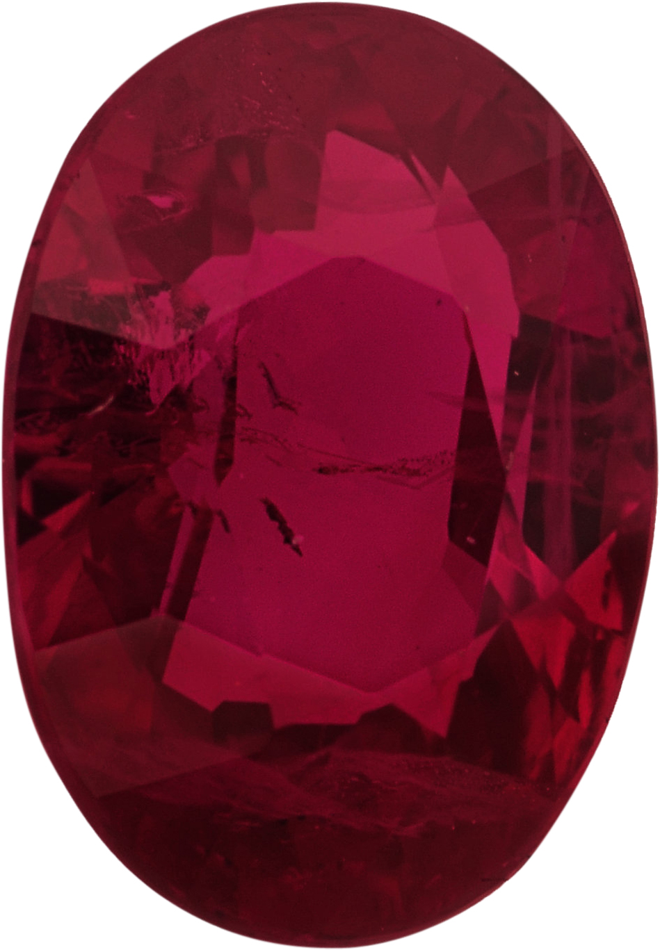 Good Looking Oval Cut Loose Ruby Gem,  Red Color, 7.13 x 5.06 mm, 1.18 carats